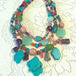 Chico's faux turquoise statement necklace
